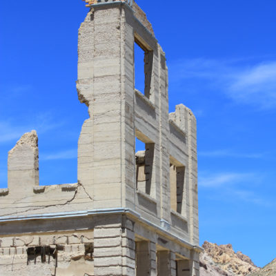 Historic Site for old Bank at Rhyolite Ghost Town near Beatty, NV
