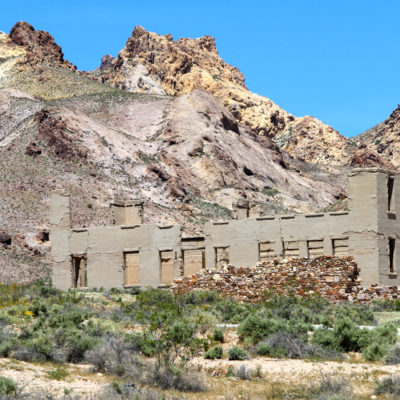 Old Schoolhouse at Rhyolite ghost town in Nevada